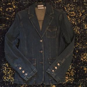 Liz Claiborne vintage jean blazer